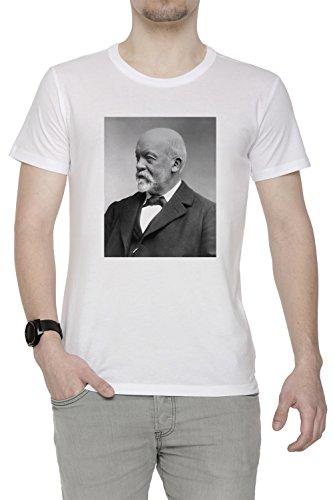 gottlieb-daimler-hombre-camiseta-cuello-redondo-blanco-algodon-manga-corta-mens-t-shirt-white