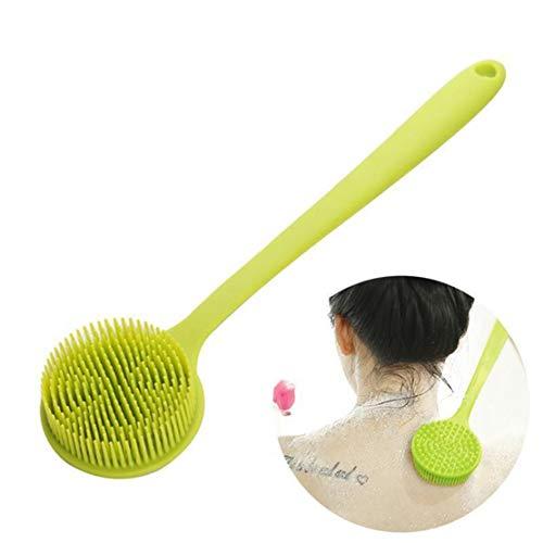 Happy Event Silikon Badebürste mit langem Griff, weicher Körper Bürsten Rückseitenwäscher, duschen nass (Kunststoff-körper-wäscher)