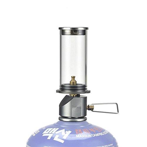 Outdoor Camping Laterne Mini Gas Licht Kerze Lampe Für Wandern Selbstfahren