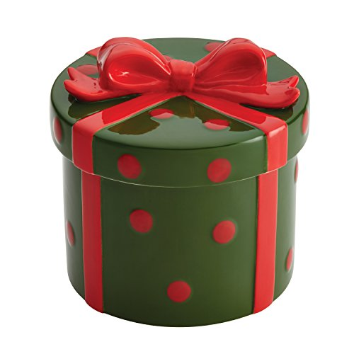 Cake Boss Collector's Edition Holiday Gift Novelty Serveware Cookie Jar, Green/Red by Cake Boss Green Cookie Jar