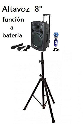 Ibiza Sound PORT8VHF-BT - Megafonía portátil, 8 pulgadas + Soporte de altavoz