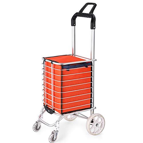 FOTEE Einkaufstrolley mit Kühlfach, extra großer Handwagen 3-Rad-Mechanik Abnehmbarer Einkaufswagen Einkaufsroller Mühelos über Bordsteine und Treppen,Style 1_96x31cm