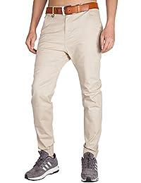 60c5f425f2 ITALY MORN Pantalón para Hombre Chino Casual Jogging Algodón Slim Fit ...
