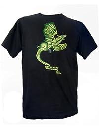 Brodé Dragon Vert T-shirt, Fair Trade 100% coton vendu par One World is Enough.