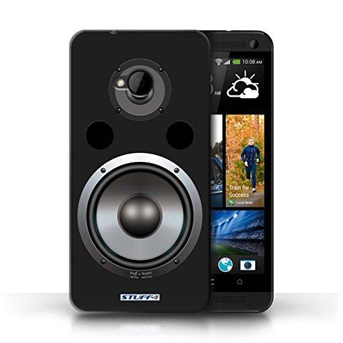 Kobalt® Imprimé Etui / Coque pour HTC One/1 M7 / Autoradio conception / Série Haut-Parleur dessin Hifi