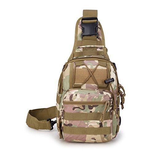 BULAGE Pack Brusttasche Farbe Persönlichkeit Mode Tragbar Tarnung Schulter- Messenger Outdoor Freizeit Sport Radfahren Backpacking F