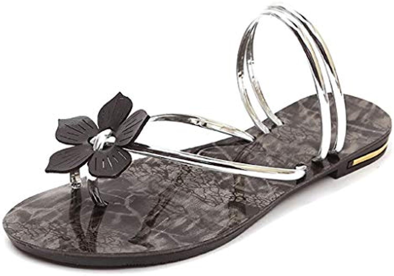 les femmes portent des de tongs huyp pantoufles de des personnalité mode été plat sandales et pantoufles chaussures de plage (taille: 38) 635b85