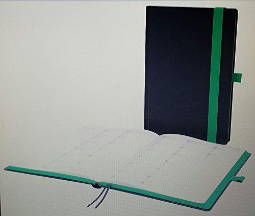 Buchkalender A5 HybridTimer 2016 schwarz/grün