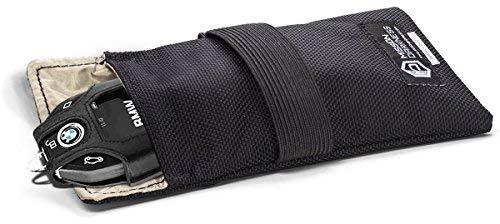 Mission Darkness Faraday-Tasche für Autoschlüssel // Abschirmung der 5. Generation für Strafverfolgungsbehörden und Militär // Anti-Hacking, Signalblockierung, Automobilschutz