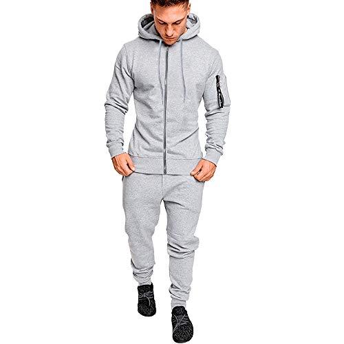 Pantalones de Sudadera de Bolsillo de otoño Invierno para Hombre Establece chándal de Traje Deportivo de Internet