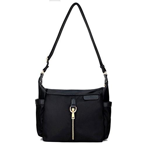 Ladies singola borsa a tracolla,borsa di tela,messenger bag-Blu nero
