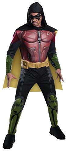 Costume da uomo Batman Arkham - Robin - con muscoli - 4 pezzi, Multi, Large