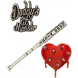 DC Comics Suicide Squad Harley Quinn Lapel Pin Set