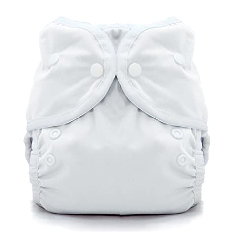 Thirsties Duo Wrap Snap, White, Size One (6-18 lbs)