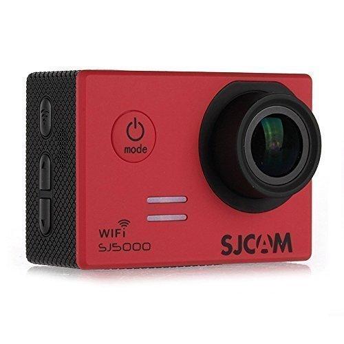 SJCAM SJ5000 WiFi Edition Novatek 96655 Action Sport Kamera Cam Camera Waterproof Full HD 1080p Video Helmkamera + Extra WINGONEER Batteria - Rosso