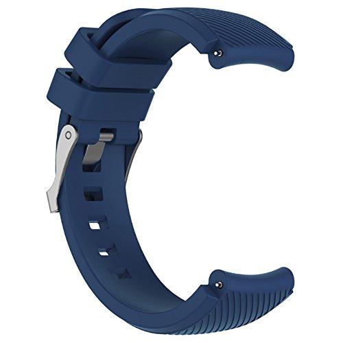 Komise - Bracelet de rechange pour montre de sport - Silicone souple - Pour montre HUAMI Amazfit Stratos Smart Watch 2 - Couleur au choix Taille unique bleu marine