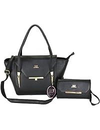 Roberto Ballmore Womens Leatherette Hand Bag Black - B076F8Z2MY