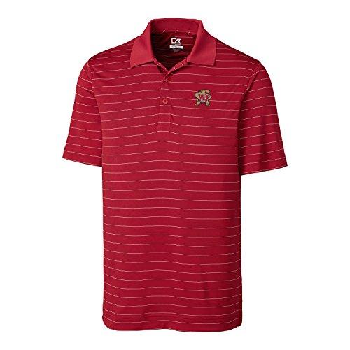 Cutter & Buck NCAA Herren CB Dry Tec Franklin Stripe Poloshirt, Herren, CB DrytecTM Franklin Stripe Polo, Kardinalrot, X-Large -