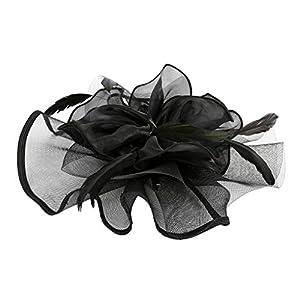 Fenteer Vintage Damen Blumen Fascinator Haarreif Stirnband Haarspange Derby Hut Great Gatsby Kostüm Accessoires