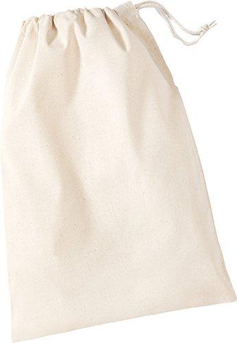New Unisex molinillo de Westford de algodón Bolsa Cuerda Cordón Bolsa Bolsa XS-XL Marfil beige