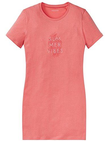 Schiesser Mädchen Nachthemd Sleepshirt 1/2, Rot (Grapefruit 526), 140 (Herstellergröße XS)