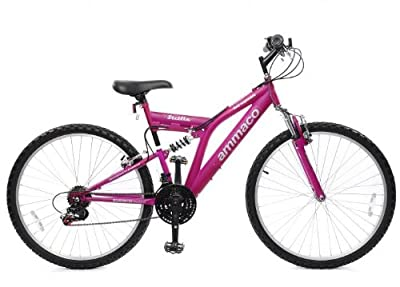 "Ammaco Sicilia Ladies Dual Suspension Bike 18 Speed 26"" Wheel 18"" Frame Matt Purple Age 12 Years To Adult by AMMACO"