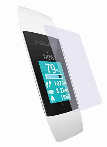 Preisvergleich Produktbild 2x ANTIREFLEX matt Schutzfolie für POLAR Fitness & Activity Tracker A360 A370 Displayschutzfolie Displayschutz Displayfolie Folie BEWUSST KLEINER GEHALTEN WEGEN GEWÖLBTEM DISPLAY