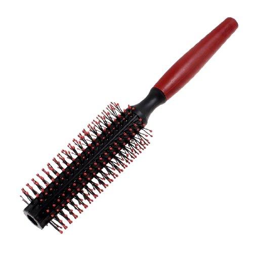 Sourcingmap Cheveux bouclés Flexible Rouleau brosse Peigne, Rouge/noir