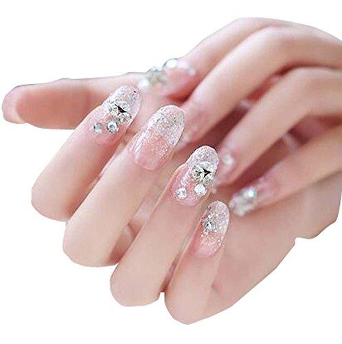 Pourpre élégante Belle Dame Art Nails Set 24 PCS