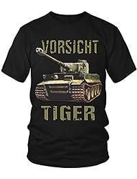 Vorsicht Tiger Panzer T- Shirt Herrentag V1 Arme Bundeswehr Soldat Geschichte