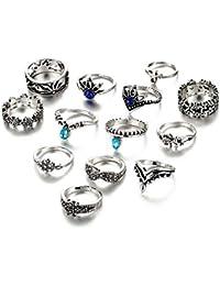 Shining Diva Fashion Jewellery Set Of 13 Midi Finger Stylish Rings For Women And Girls