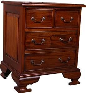 nachttisch antik look mahagoni massiv kommode mit 4 schubladen oder tisch k che. Black Bedroom Furniture Sets. Home Design Ideas
