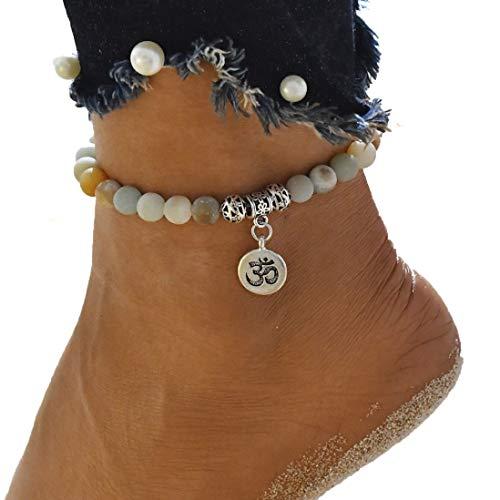 ßkette lebensbaum Knöchel Kette Knöchel Damen Sommer Strand Sandale Barfuß Ketten Fuß Armband ()