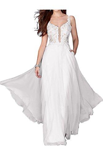 Toscane mariée magie coeur tuell abendkleider ballkleider long demoiselle d'honneur soirée Blanc - blanc