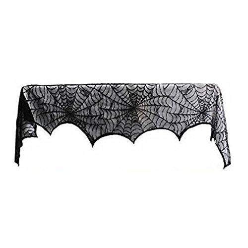 Halloween Party Set Web-Ofen-Tuch Halloweens schwarzes Spinnennetz für Festival Cosplay Halloween Kostüm