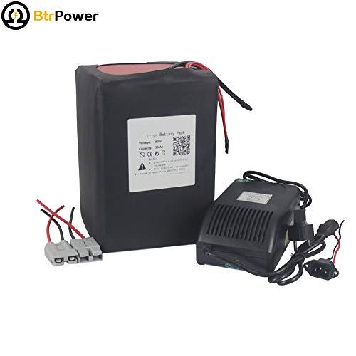 60v 35ah Ebike Batterien für 2000W Elektro-Roller, Lithium-Ion Akku mit 5A-Ladegerät BMS