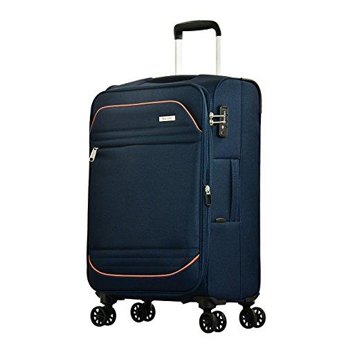 Eminent Valigia Barcelona 67cm 72L Leggero 4 Ruote doppie silenziose Lucchetto TSA Blu
