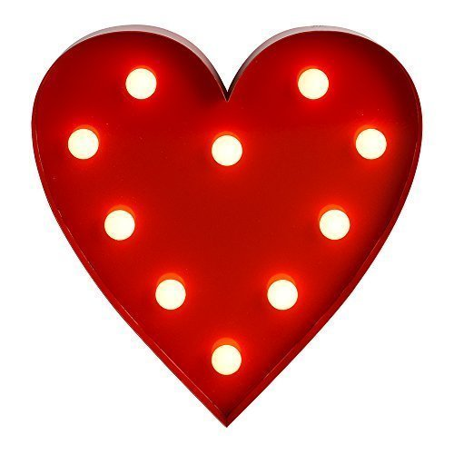 MiniSun-Contempornea-decoracin-LED-luminosa-en-forma-de-corazn-rojo-a-pilas