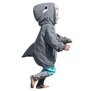 FAMILIZO Conjunto Bebe Niño Pequeño Bebé Niña Chica 3D Sudadera con Capucha Tiburón Camiseta Tops + Pantalones Ropa… 8