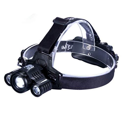 RMXMY La lumière de pêche d'équitation Rechargeable extérieure Haute Puissance Rechargeable en Plein air Peut détecter Les phares Multifonctions à LED