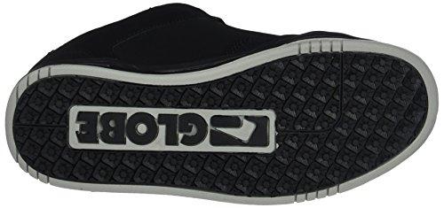 Globe Scribe, Scarpe da Skateboard Uomo Nero (Black/black/red)