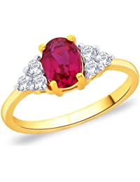 Peora 925 Silver 18 Karat Gold Plated Ring Made With SWAROVSKI ZIRCONIA For Women