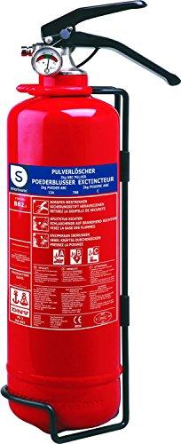 Smartwares Feuerlöscher 2 Kg, Pulverlöscher mit Halterung...