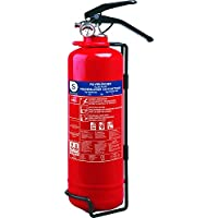 Smartwares BB2 - Extintor, Resistencia al Fuego ABC Incluye Soportes (2 kg de Polvo seco) Color Rojo