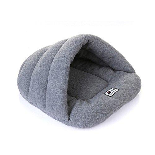 Fyore casa di gatto letto per cani portatile pieghevole elegante comoda forma di sacco a pelo lasciate che l'animale si calda (l(58*68cm), grigio)