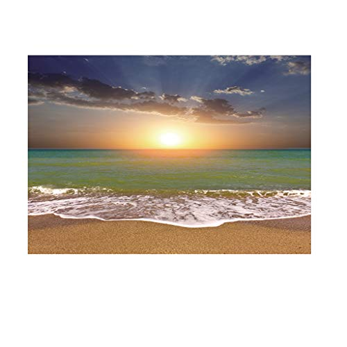 Homyl 3D-Effekt Aquarium Hintergrund Fotorückwand Strand Meer Poster - XS