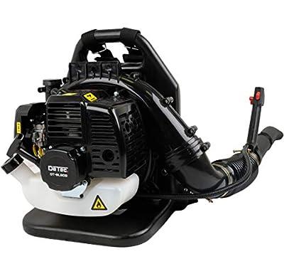 DeTec. Benzin Laubbläser Laubpuster DT-BL808 mit Rückenpolster & Tragegurt mit Geschwindigkeitsregler für den Benzinmotor
