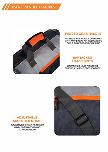 Gear Polyester 38 cms Grey Travel Duffle (DUFCRSTNG0406) Image 5