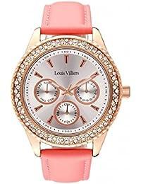 Reloj mujer Louis Villiers en acero blanco 41 mm lv2079