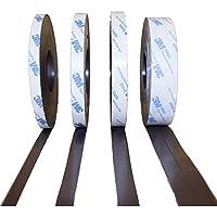 """Nastri Magnetici Nastro adesivo di 3M autoadesivo - tipo di contatore Typ A + Typ B - 1,5mm x 12,7mm x 1m- di qualità """"anisotropico"""" Massima forza di tenuta - magnetico teli di queste strisce magnetiche con adesivo 3M 9448A - per forza adesiva massima"""